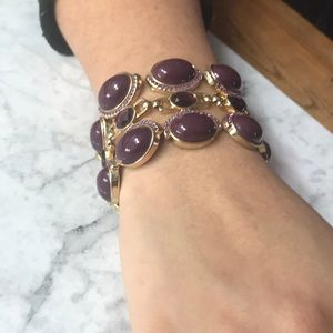 Purple stone bracelet - costume